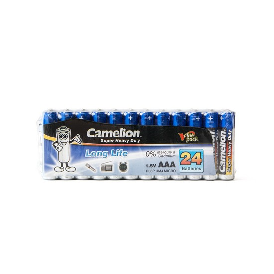 Батарейки Camelion AAA (R03P-SP24B), super heavy duty, комплект - 24 штуки