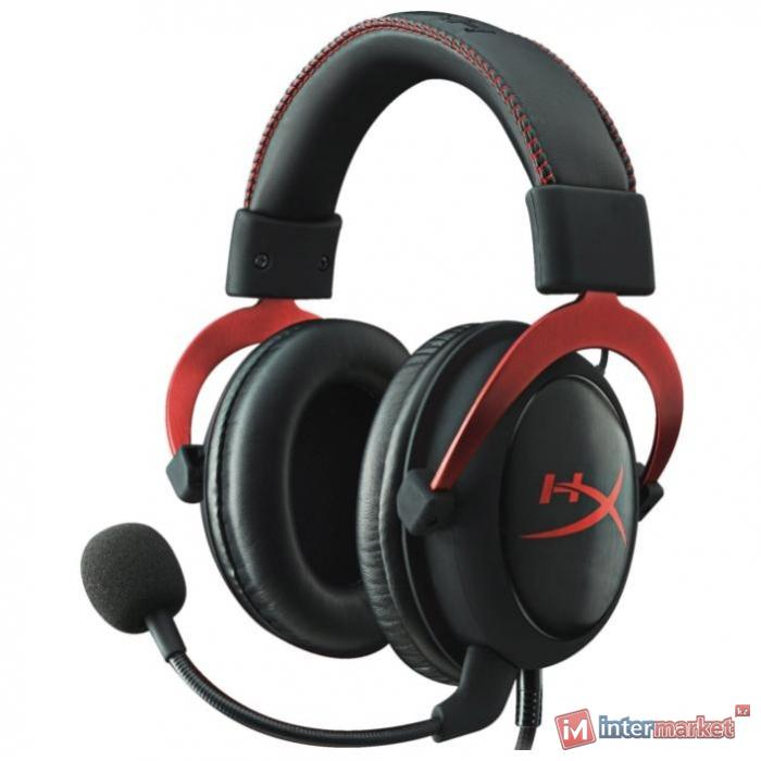 Garnitura Kingston HyperX Cloud II, black-red