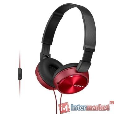 Наушники + микрофон SONY MDR ZX 310AP (red)